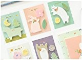 Affe Lot de 5 stickers Papier Memo Pad animaux Post it notes autocollantes kawaii Papeterie