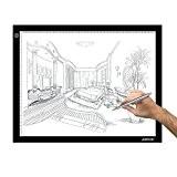 AGPtek LEGERE Tablette Lumineuse - A3 LED Pad Pour Dessiner - Plaque Avec Luminosité Réglable