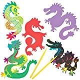 Aimants Dragons Chinois à Gratter que les Enfants pourront Confectionner (Lot de 10)