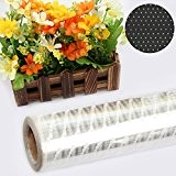 AllRight Papier Cellophane Emballage Rouleau Cellophane Fleur Gateaux 100M X 80CM Pois Blanc