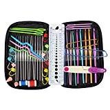 Almondcy 49pièces Crochet Knit Needls Couture outils à tricoter Ensemble de jauge de maille Ciseaux arrête mailles