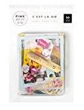 American Crafts C'est la vie Ephemera Die-Cuts 50/pkg-cardstock et acétate W/feuille d'or, Autres, multicolore