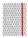 American Crafts Hall Pass adulte Coloriage Cahier avec bande élastique 12,7cm x 17,8cm avec triangles Rouge, acrylique, multicolore, 3pièces
