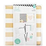 American Crafts Heidi Swapp Grande Planning mémoire Feuille d'or Stripes, acrylique, Multicolore
