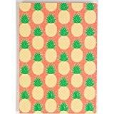 Ananas A5 pêche cahier vert journal notepad été tropical Sass & Belle