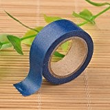 Angel Malone® 1x premium Rouleau papier uni bleu nuit Washi Tape Deco ruban adhésif de masquage. Idéal pour tous vos ...