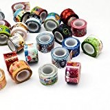Angel Malone 5 x Rolls of New 12mm Delightful Decorative Adhesive PVC Paper Washi Tape. Great for all your Crafts: ...