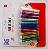 Anker Kids Create - Lot de 10tubes de paillettes en plastique pour loisirs et créations, couleurs assorties, 29,7x21x2cm