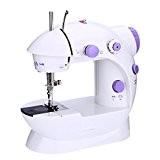Anself Mini AC100-240V Machine à Coudre Electrique Réglage de la Vitess Ménage Purple Machine à Coudre 2 avec Pied Léger ...