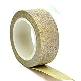 aohong 10 m 15 mm Paillettes ruban adhésif Washi Décoratif Papier Collant Craft DIY D š Š cor doré