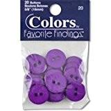 Apprêt Bouton Couleurs préférées boutons, en plastique, mauve, lot de 20, 15mm
