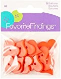 """Apprêt préférée Bouton """"cœurs Saint-Valentin boutons, en plastique, rouge, lot de 12, 25x 25x 25mm"""