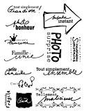 Artemio 10001138 Tampon Transparent Texte en Français Souvenirs Transparent Plastique Multicolore 16,5 x 0,3 x 26,8 cm
