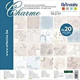 Artemio 11001805 Collection Charme Set de 40 Feuilles pour Scrapbooking Papier Multicolore 30,5 x 0,7 x 30,5 cm