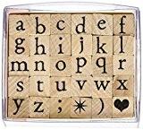 Artemio ARTA60 Set de Tampons en Alphabet Minuscules Bois Multicolore 6 x 3 x 5 cm