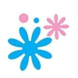 Artemio Happycut Plaque de découpe rond et fleurs