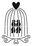 Artemio Pochoir A4 Cage à Oiseaux Artémio