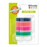 Artemio-Set de 5recharges de rubans Fluo pour clic clac Label Maker