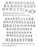 Artemio Tampon clear Alphabet classique