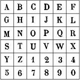 Artemio Tampon Lettres et chiffres Majuscule