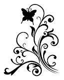Artemio Tampon Volutes et Papillons en bois