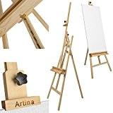 Artina Chevalet Académique Barcelona en bois de pin - Hauteur: 225cm - Stable Pliable Pratique - Pour novices & amateurs