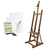 Artina Ensemble de peinture -Chevalet «Siena»+ Set de peinture acrylique