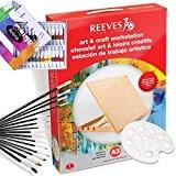 ARTINA - Ensemble pour aquarelle: 15 Pinceaux + table à dessin REEVES A3 + 24 tubes de peinture aquarelle + ...
