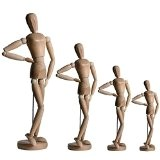 Artina® Modèle de dessin - Figurine pour esquisse - Mannequin proportion humaine position réglable - En bois - 30cm
