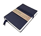 Artway Doodle - Carnet à dessin/journal - papier cartouche - couverture douce en cuir véritable - 150 g/m² - 164 ...