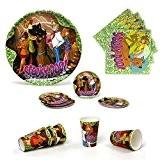Atosa - Scooby Doo - Kit Vaisselle jetable Anniversaire pour 5 enfants