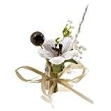 Au plaisir des yeux - 12 pinces à linge fleur blanche