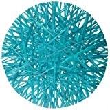 Au plaisir des yeux - 4 Sets de Table Ronds Raphia Turquoise 34 x 34 x 0,5 cm