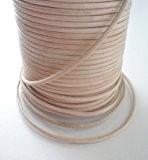 Auroris Cordon en cuir rond-25m-ø 1,5mm-naturel (teinte)