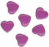 Baby Snap® Plastique boutons pression Cœur brillant H56 Hellviolett