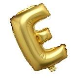 Ballon Gonflable Lettre Alphabet A-Z Grand Fête Anniversaire Noël Mariage 40 Pouces - Or E