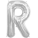 """'Ballon gonflable """"Lettre Argent--- Ballon--- env. 40cm"""
