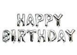 """Ballon gonflable """"Lettre Happy Birthday Argent - -- Ballon - -- Convient pour helium-- env. 40 cm"""