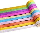 Bandes Ruban adhésives, Kolylong Diy Deco Chambre Tape 8pcs mignon Collant Masking DéCoratif Scrapbooking Accessoires (4.5cm*2.7m-8pc couleur aléatoire, Flash)