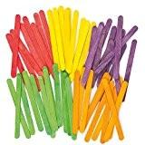 Bâtonnets en bois colorés - Lot de 200