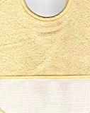 Bavoir à Broder Point de Croix Coloris Jaune Taille 6 mois / 1 an