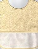 Bavoir à Broder Point de Croix Coloris Jaune Taille Naissance / 3 mois