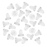 Beadaholique Clear Rubber Bullet Clutch Earring Safety Backs (144) by Beadaholique