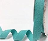 Bertie's 25mm aqua ruban adhésif en coton à chevrons/sur une longueur de 4m (Note?: Ceci est une coupe à partir ...