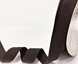 Bertie's 25mm Ruban adhésif en coton Marron à chevrons/sur une longueur de 4m (Note?: Ceci est une coupe à partir ...