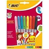 Bic Marking Color Marqueur Permanent Fuchsia / Violet / Turquoise / Vert clair / Jaune / Orange / Rouge / ...