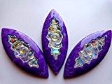 Big Gem Pierre forme navette Cheval Eye 50 x 20 mm à coudre résine cristal violet/transparent AB Couleur cabochons strass ...