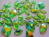 Big Promotion 300LED Forme mixte Taille coudre sur strass vert AB Couleur perles en acrylique en vrac Cristal main strass ...