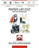 "Bloc layout papier spécial marqueur ""Manga art paper"" - A4 - Schoellershammer"