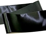 Bobine Chic 10cm large ruban En Satin Noir-par 3m + sans Minerva Crafts Craft Guide